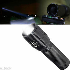 5000LM XM-L T6 LED Flashlight Waterproof Zoomable Tactical AAA Torch Light Lamp