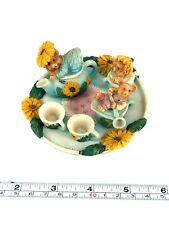 Miniature Doll House 9 Piece Teddy Bear Ceramic Tea Set