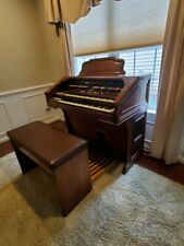 Hammond Colonnade Organ With Leslie Speaker, Base Pedals,Bench Early 1980s