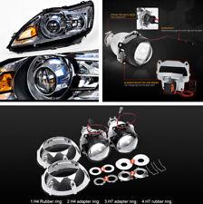 """2x 3 """"Xenon HID Projektorlinse mit Silber Shroud für H4 H7 LHD Autoscheinwerfer"""