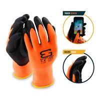Better Grip Flex BGFLEXMF MicroFoam Work Gloves Work For Smart Phone (Orange)