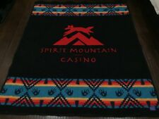 RARE🔥 Pandleton Spirit Mountain Casino Huge Wool Blanket Native American Throw