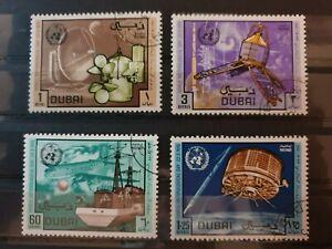 Dubai 1970 World Meteorological Day. 4 stamp set used