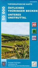 Topographische Wanderkarte Östliches Thüringer Becken - Unteres Unstruttal Bl 62