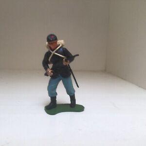 American Civil War Union infantry. Vintage Britains plastic swoppett 54mm