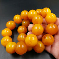 Natural 18mm Or 24mm BALTIic AMBER Beautiful old Beeswax Bracelet Fluoresce154