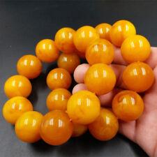 1Pcs Natural BALTIic AMBER beautiful old Beeswax Bracelet fluoresce154