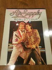 RARE AIR SUPPLY 1985 WORLD TOUR POWER OF LOVE CONCERT BOOK VH1 MEGA FAN!