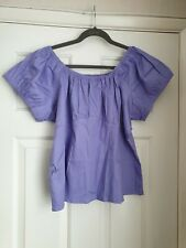 Pinup Couture peasant top lilac size 4xl