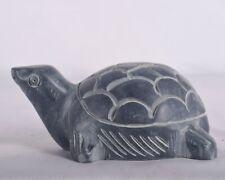 Vintage Tortoise Hand made Grey Stone Turtles Figurine Solid Statue Home Decor