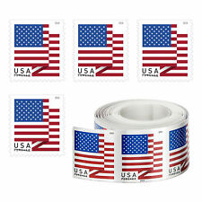 1 Roll of 100 Postage Stamps USPS US Flag 2018 Forever Stamps - Free Shipping