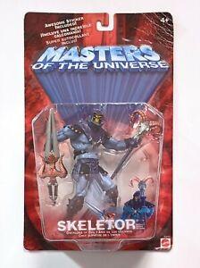 2001 Mattel HE-MAN Masters Of Universe MOTU Skeletor Overlord of Evil + Sticker