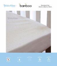 KIDZ KISS Bamboo Waterproof Fitted Mattress Protector / Cover [Standard Cot]