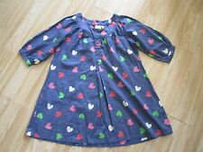 Next girls loose fitting top in airforce blue/colourful hearts - 10 - 11yrs