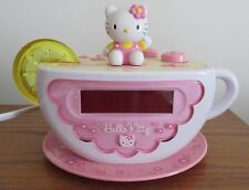 Hello Kitty Digital Alarm Clock AM FM Radio KT2055 Tea Cup Nightlight Fairy Kei