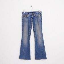 $216 True Religion Joey Twist Leg Seam Flap Low Rise Flare Stretch Jeans 26 30.5