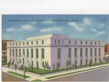 Indiana State Library Indianopolis Vintage USA Postcard 507a