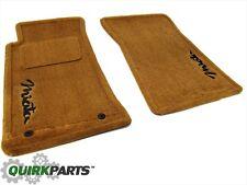1990-1997 Mazda MX-5 Miata Tan Front Seat Carpet Floor Mat Set W/ Logo OEM