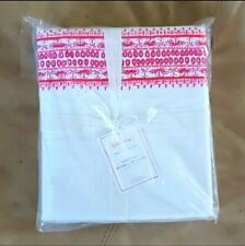 NEW Lilly Pulitzer Pottery Barn Pink Border In Shell Of A Time Twin XL Sheet Set