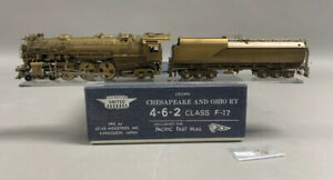 BT - HO Brass Train - PFM C&O Chesapeake & Ohio 4-6-2 F-17 United Unpainted