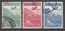 1932 Bulgaria Junkers plane, Rila monastery Air post stamps C12-14 full set used