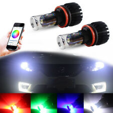 2X For Fog DRL Lights Multi-color RGB Smartphone Wireless Remote H8 H11 CREE LED