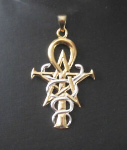 Oberon Zell Penkhaduce Wizardry Symbol in silver & gold vermeil by Peter Stone