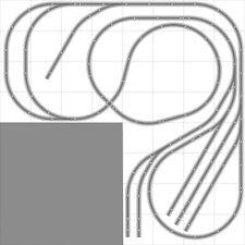 Layout #025 Bachmann HO EZ Track (NS) Nickel Silver - 8' X 8' L-Shape NEW