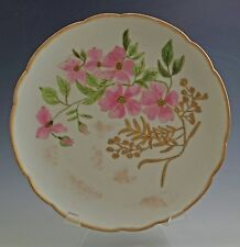 Antique Early Haviland Limoges Cabinet Plate, Handpainted, Floral Heavy Gold