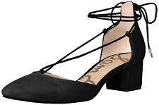 Sam Edelman Women's Loretta Dress Pump, Black Suede, Size 8.0 V4mj US / 6 UK