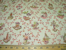 "~15 YDS~VERVAIN ""AKIRA BLOSSOM""ASIAN ORIENTAL~COTTON UPHOLSTERY FABRIC FOR LESS~"