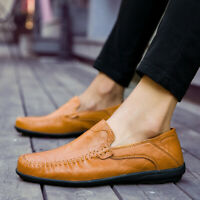 Men's Driving Moccasins Slip On Loafers Sneakers Leather Casual Boat Shoes
