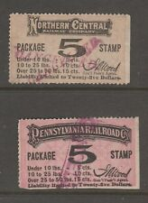 USA Train Parcel Package Stamps revenue Fiscal stamp 10-28-20 no gum  Nice