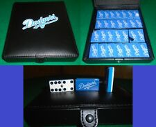 Los Angeles Dodgers Dominoes Game Set Double 6 Domino Baseball Man Cave Bar Pub