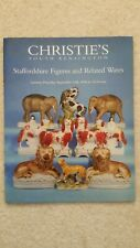 Christies catalogue Dated 1996 Staffordshire Figures