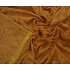 Tcw  Vintage Brown  Sari Printed 100% Pure Silk Zari Border Sarees