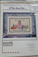 If The Shoe Fits Buy in Every Color by Ladybug Lane  Cross Stitch Pattern