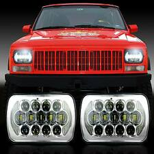 "2x New! PRO LED 5"" X 7"" Chrome Headlight Replacement for Jeep Cherokee XJ Trucks"