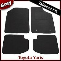 TOYOTA YARIS 3-Door Mk1 / XP10 1999-2005 Tailored Carpet Car Floor Mats GREY