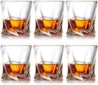 Crystal Whiskey Glasses, Set of 6 Scotch Glasses, Tumblers for Drinking Bourbon