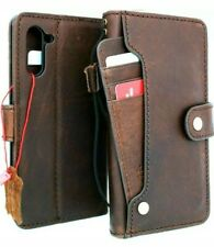 Genuine leather Case fo samsung Galaxy note 10 handmade cover wallet book rubber