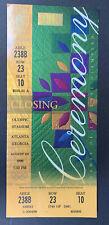 1996 Atlanta Summer Olympic Games Closing Ceremony Ticket