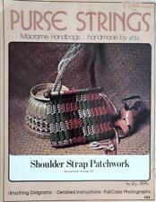 PURSE STRINGS, MACRAME HANDBAGS VINTAGE CRAFT PUBLICATION 1976 by LIZ MILLER