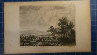 Französische Landschaften Stahlstich von 1808 Niquet  H-7318