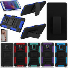 Silicone/Gel/Rubber Matte Mobile Phone Cases, Covers & Skins for Samsung Galaxy Note 4 with Kickstand