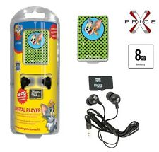 Lettore MP3 8GB XTREME TOM & JERRY MINI USB SLOT MICRO AURICOLARI JACK 3,5