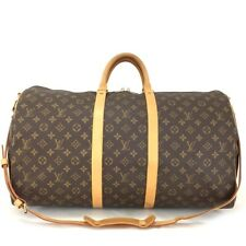 Auth Louis Vuitton Monogram Keepall Bandouliere 55 Boston Travel Hand Bag /30263