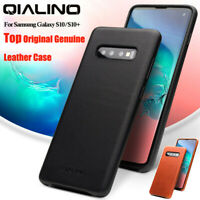 QIALINO Original Genuine Leather Slim Case Cover For Samsung Galaxy S10 S10 Plus