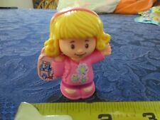 Fisher Price Little People Mom lady girl Emma school Bus Backpack pink flowers