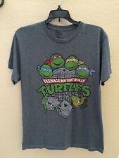 Teenage Mutant Ninja Turtles T-shirt Thin Cotton Poly Blend Retro - M - Gray